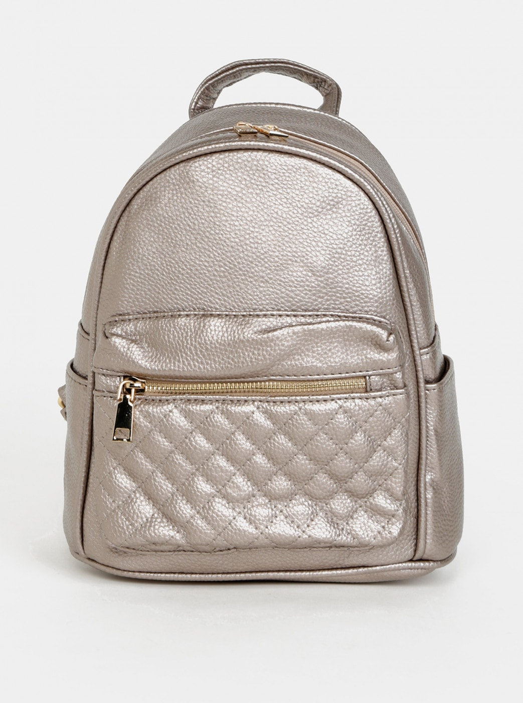 Beige women's backpack with metallic flares Haily ́s Celine