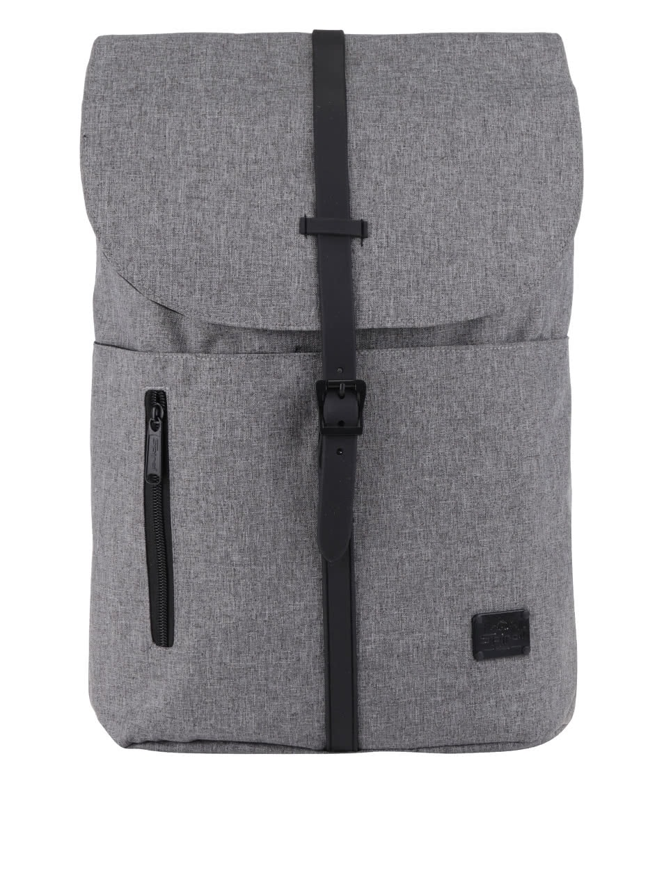 Grey backpack with spiral tribeca 14 l patent clip