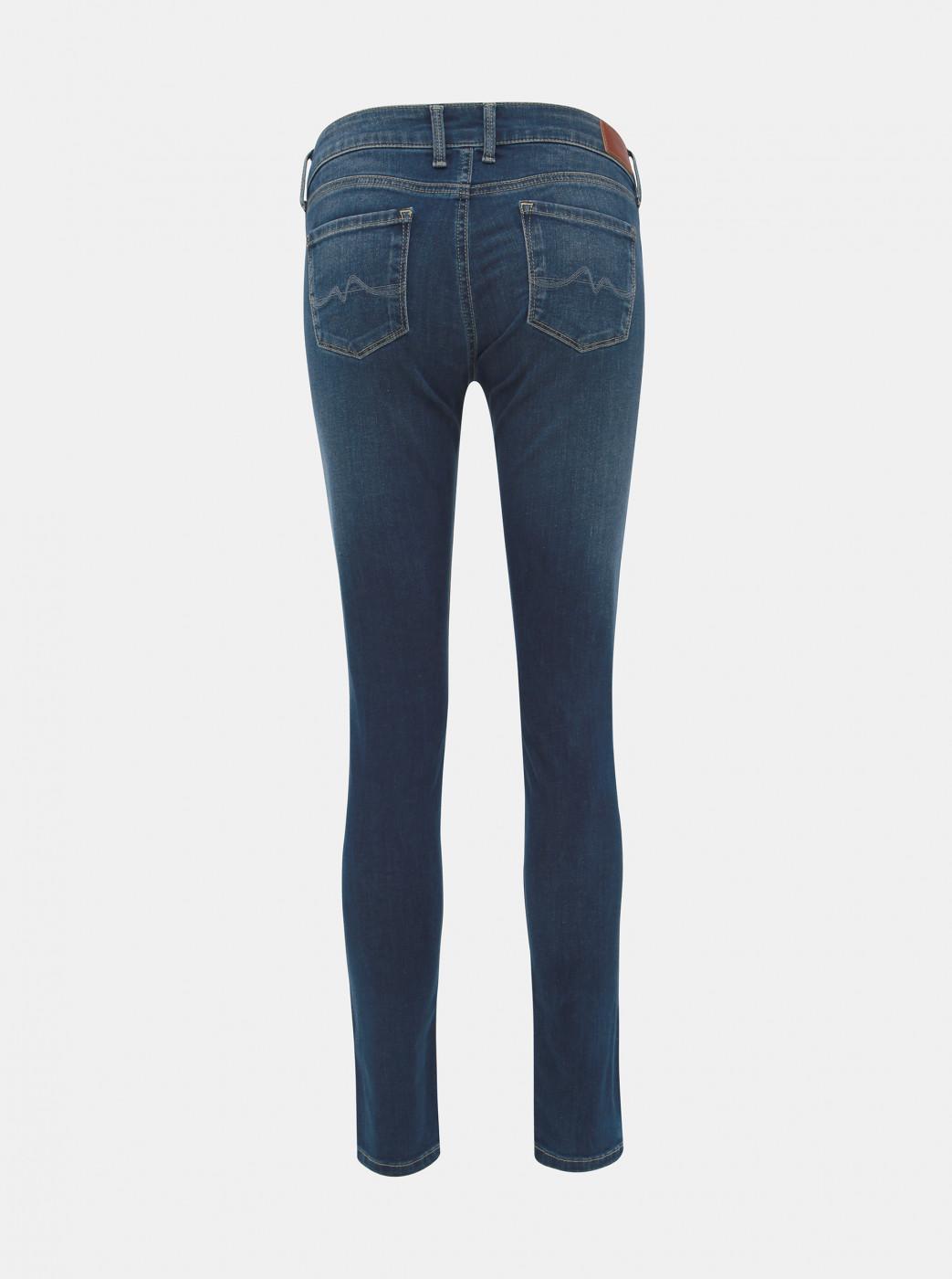 Dark Blue Women's Skinny Fit Jeans Low Waist Pepe Soho