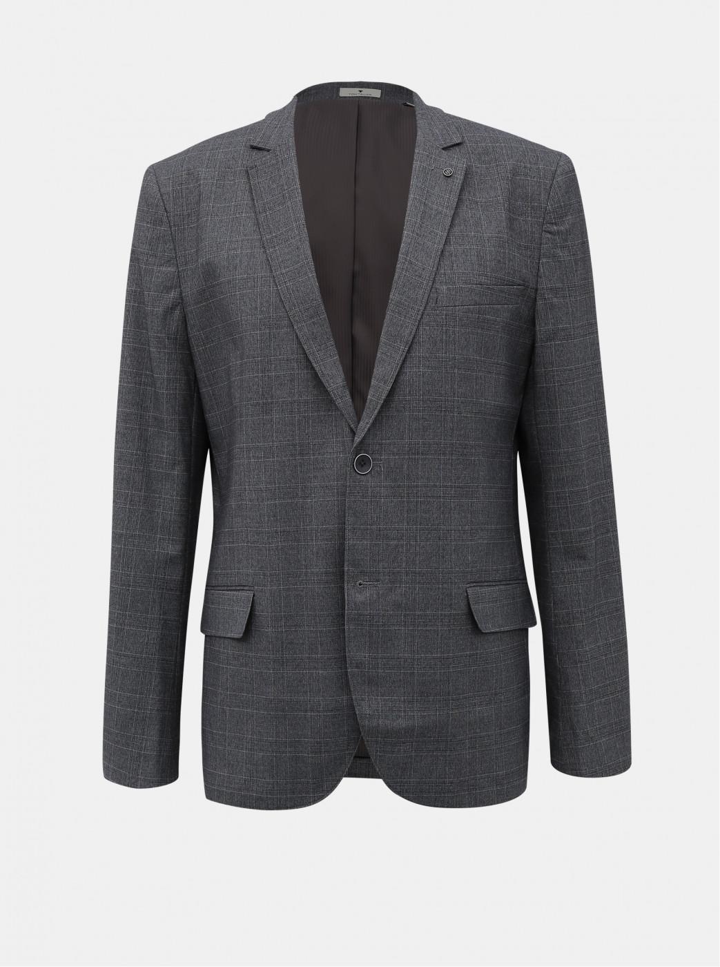 Tom Tailor Grey Men's Plaid Jacket