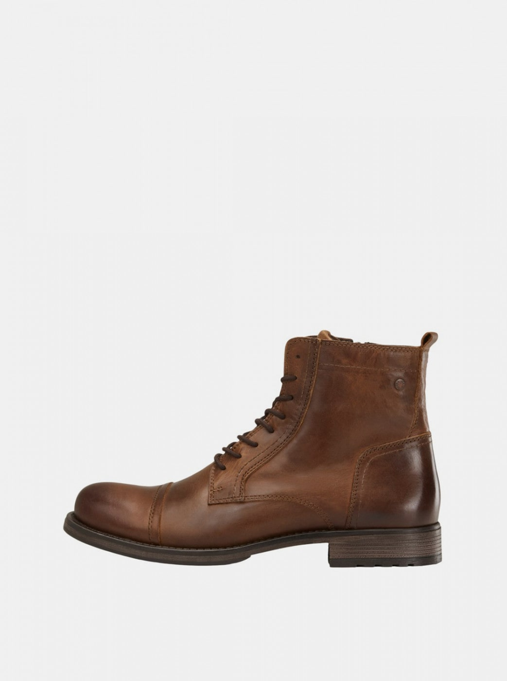 Brown Men's Leather Ankle Boots Jack & Jones Russel