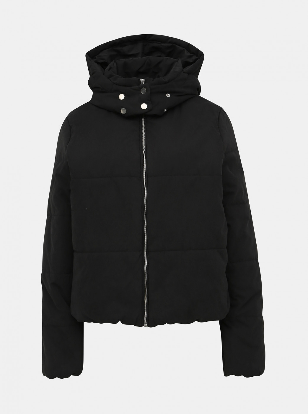 VILLA Leyda Black Quilted Winter Jacket