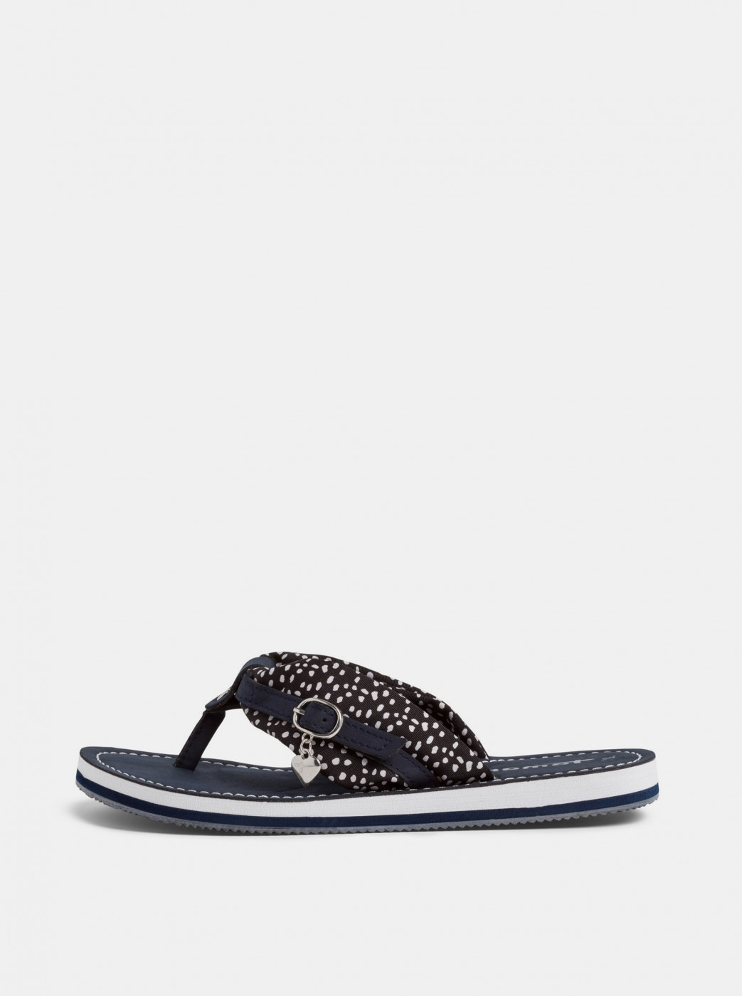 Tamaris Dark Blue Patterned Flip-Flops