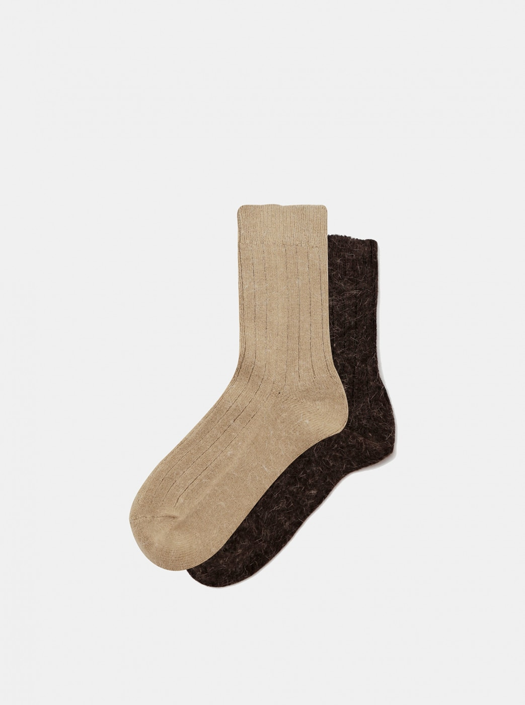 Set of two pairs of marie claire brown socks
