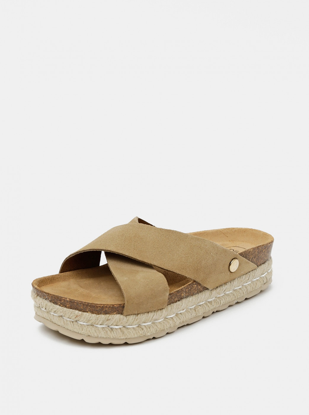 Beige Women's Suede Slippers OJJU
