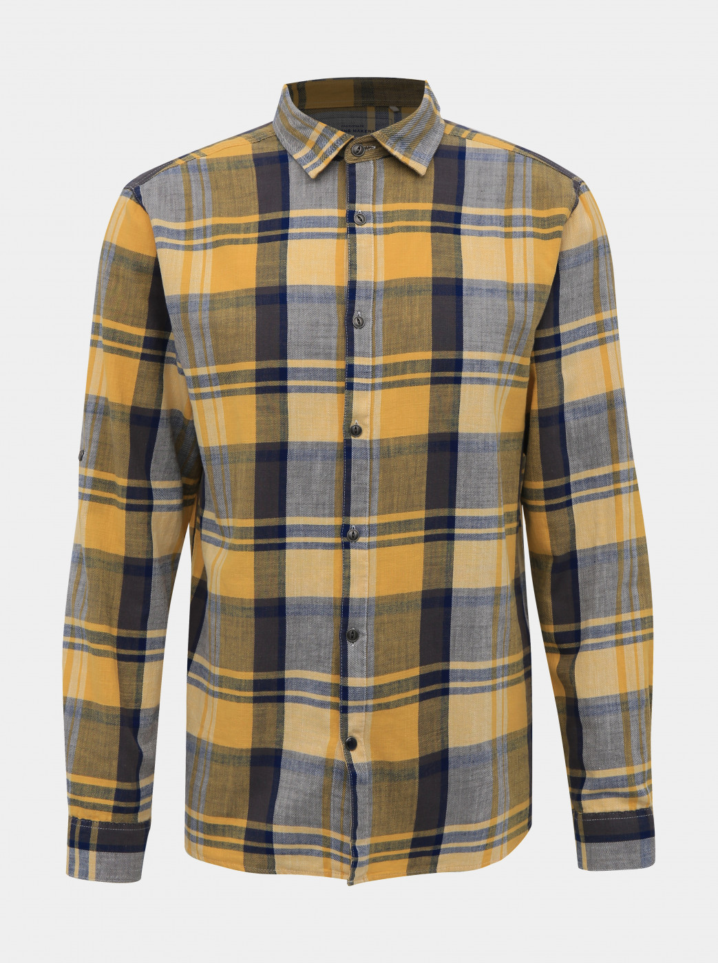 GREY-YELLOW PLAID SHIRT ONLY & SONS SAY