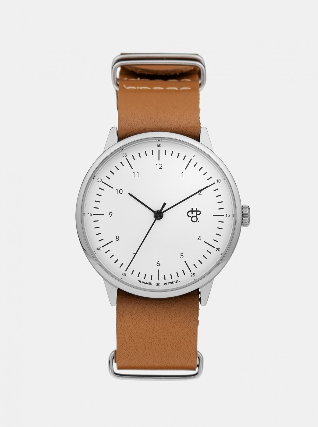 Watch with brown leather belt CHPO Harold