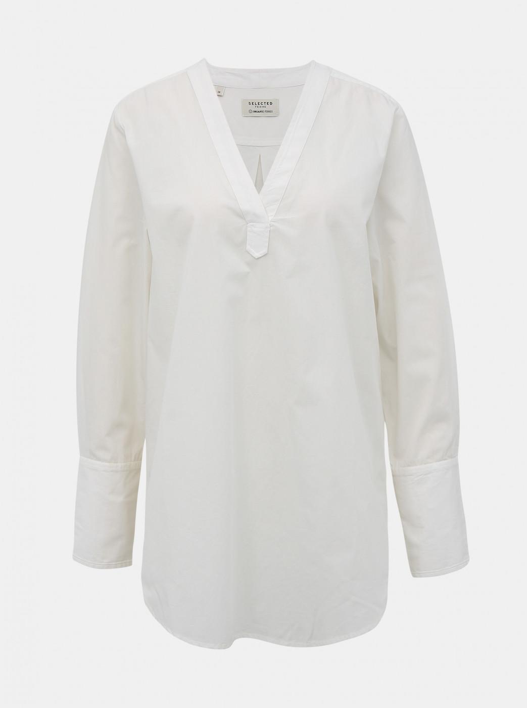 White Loose Blouse Selected Femme Sandra