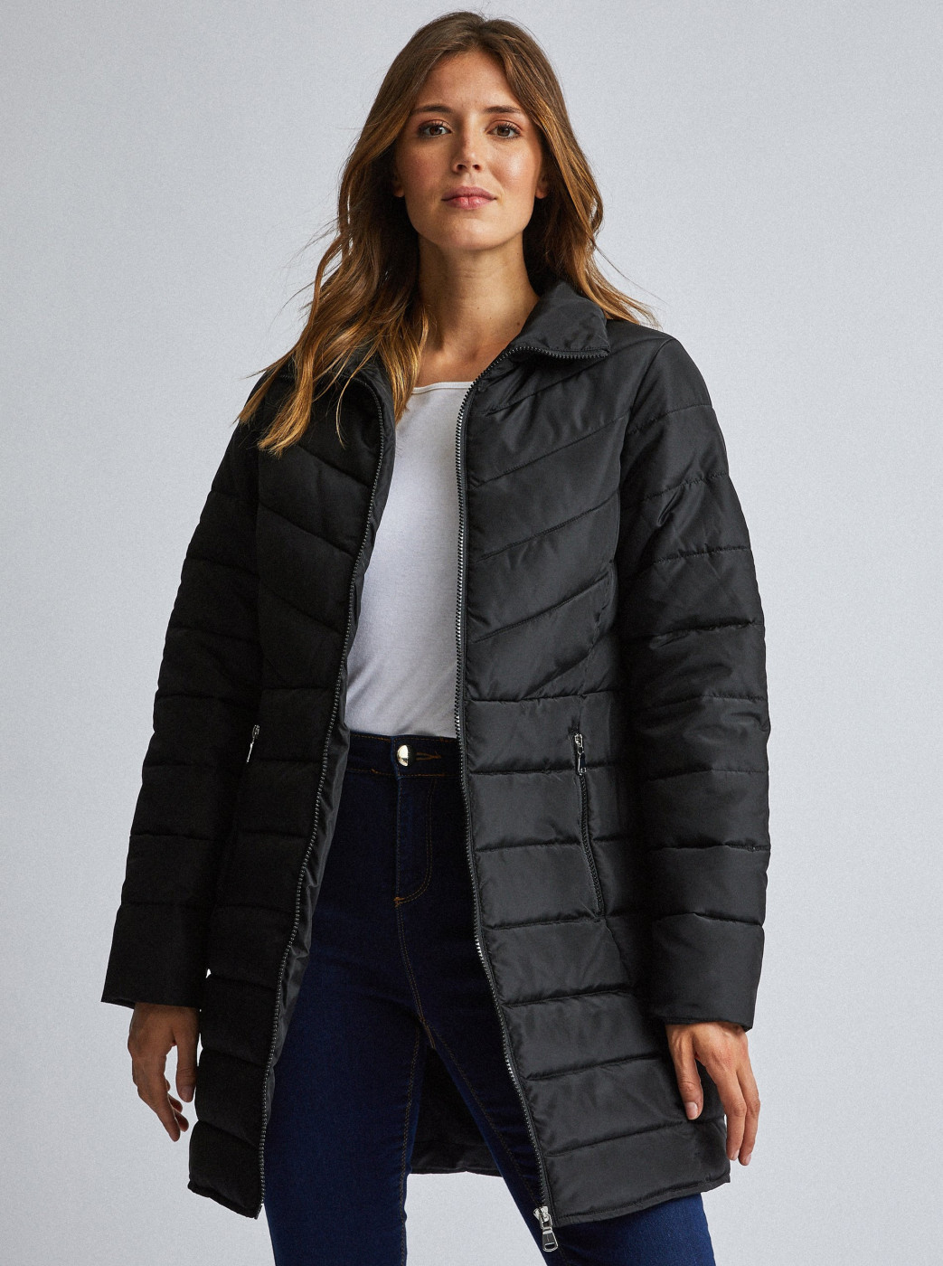 Dorothy Perkins Black Quilted Coat