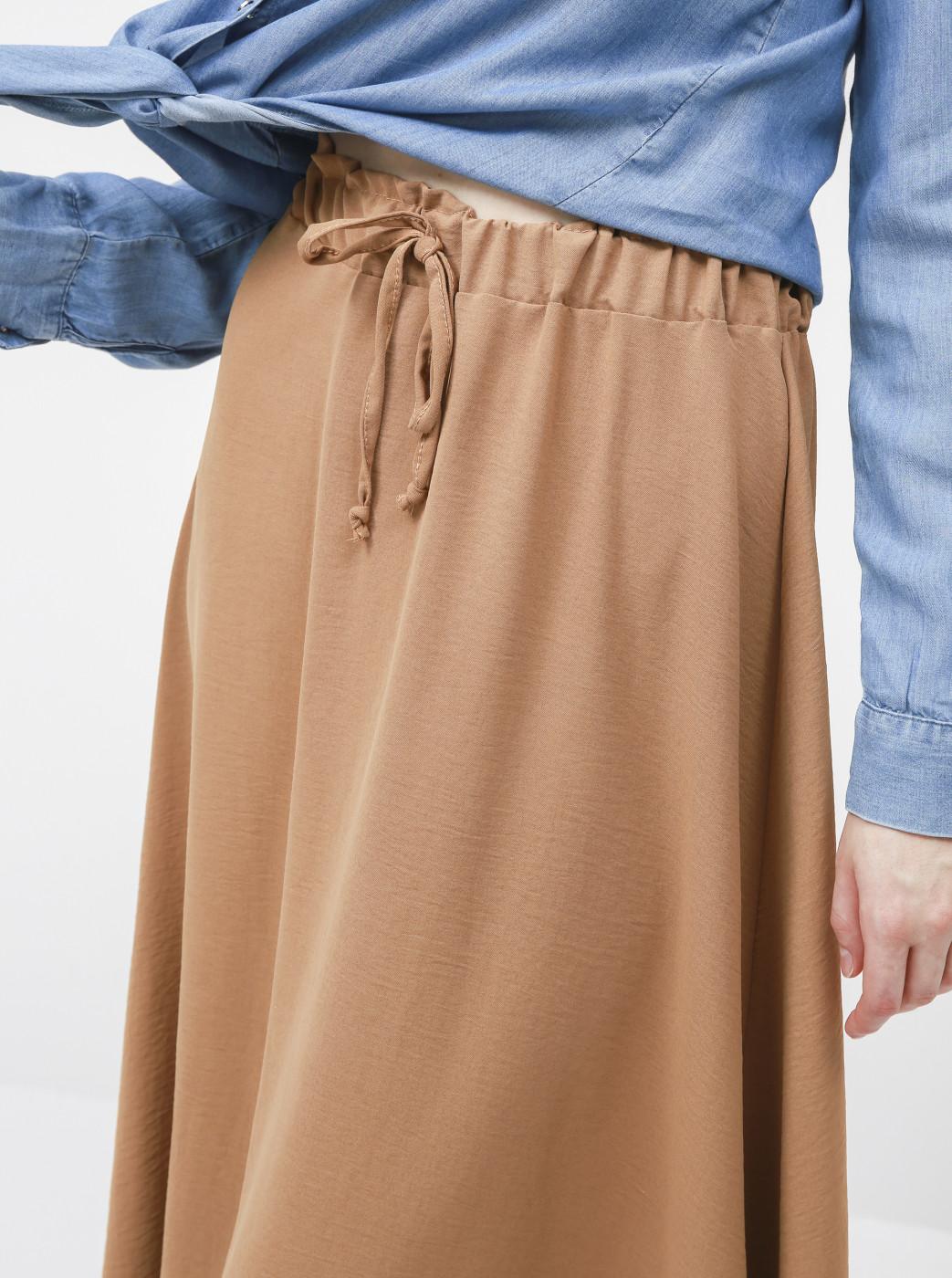 Haily's Elin Brown Midi Skirt