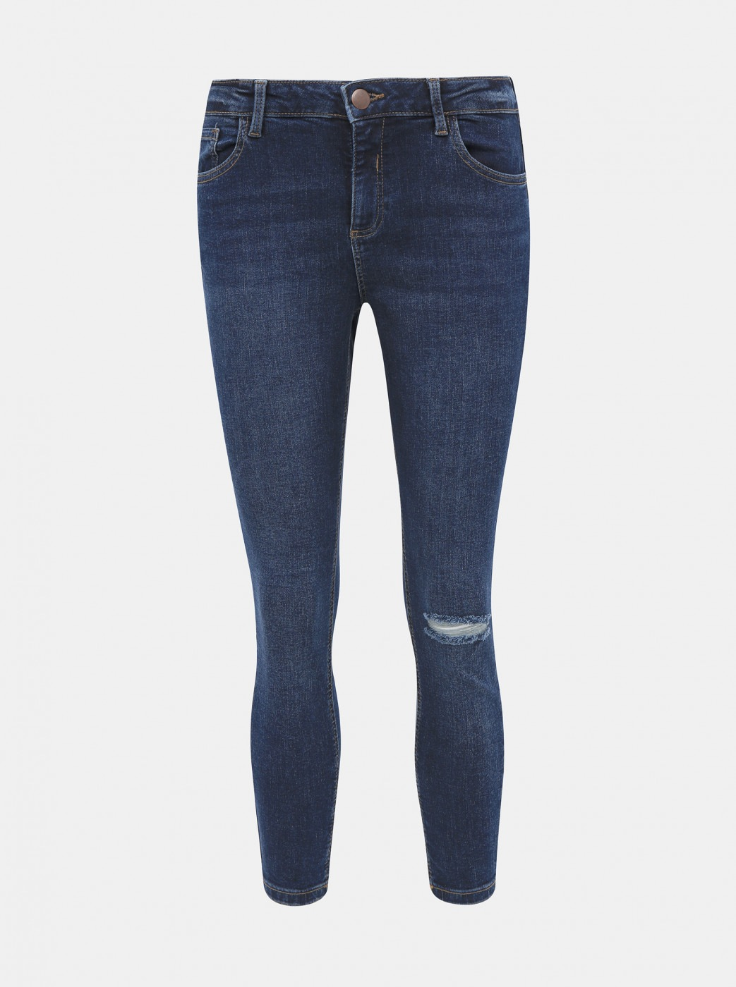Blue cropped skinny fit jeans by Dorothy Perkins Darcy