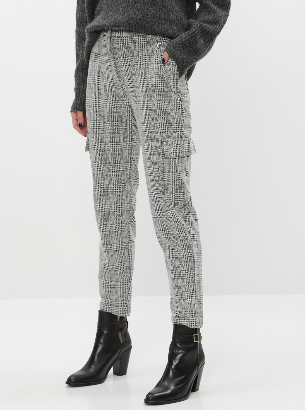 TALLY WEiJL Quard Grey Checked Short Pants