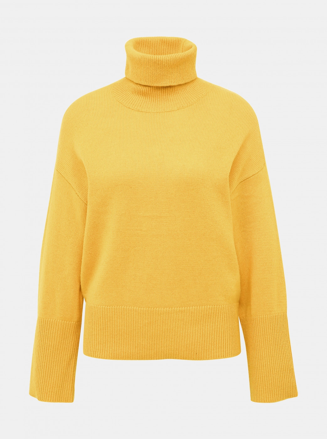 Mustard turtleneck with admixture of wool Selected Femme Rianna