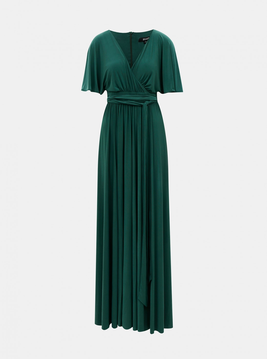 Green maxi dress with zoot slit