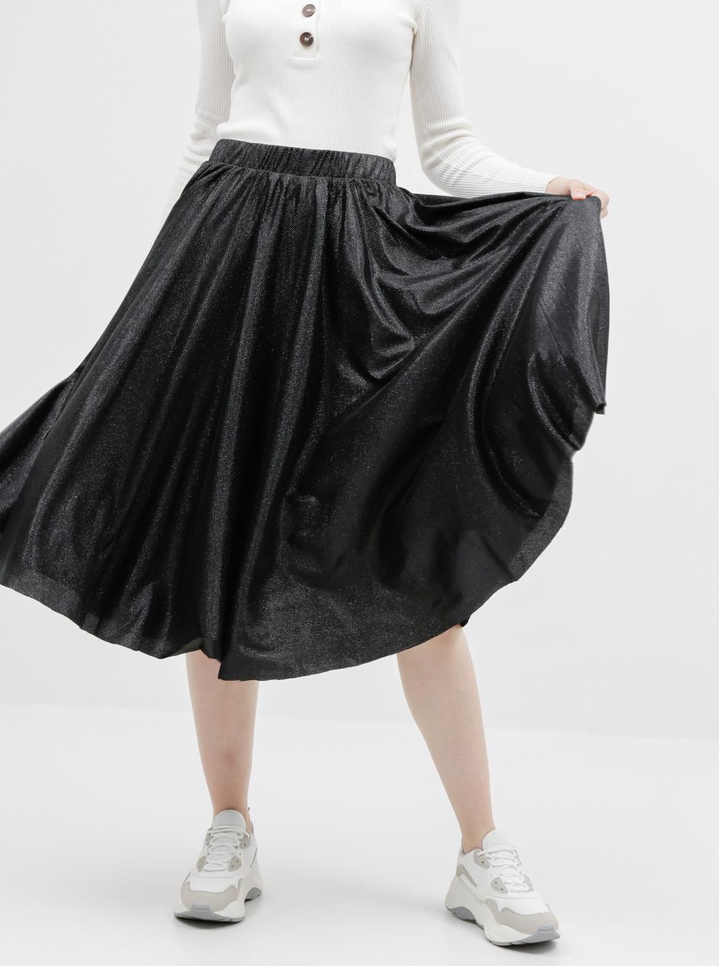 Black glittery skirt VILA Lena