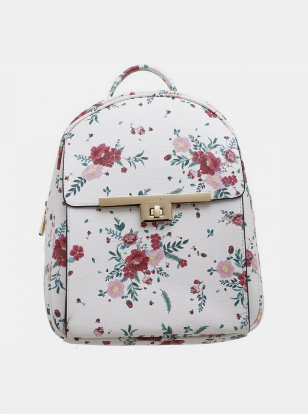 Bessie London White Floral Backpack