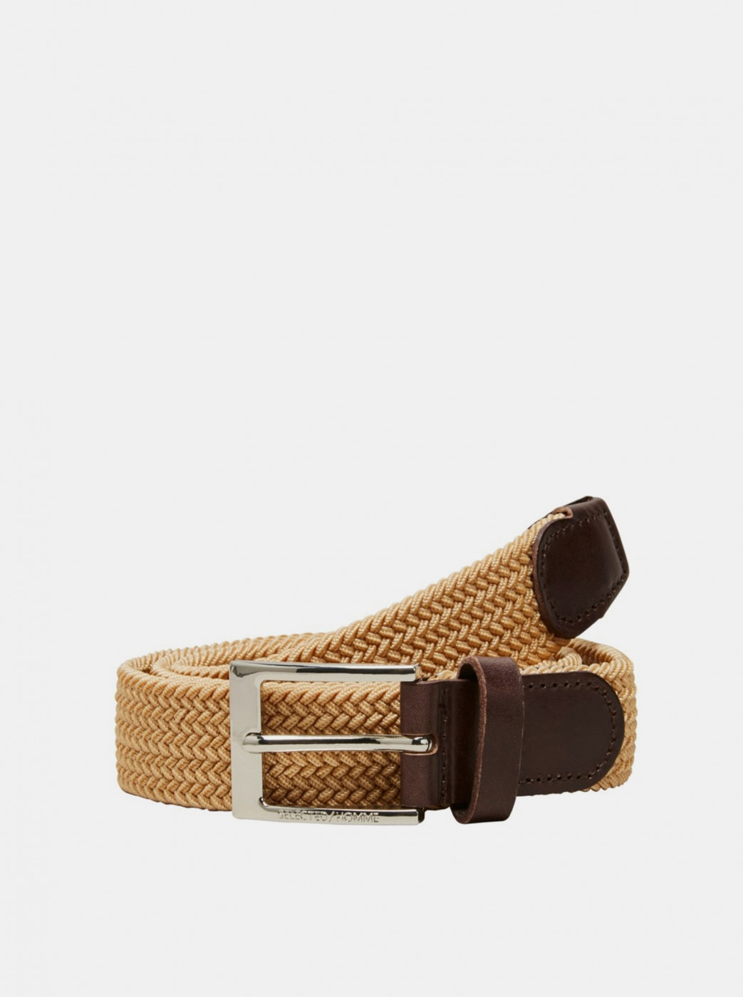 Brown Belt and Leather Details Selected Homme