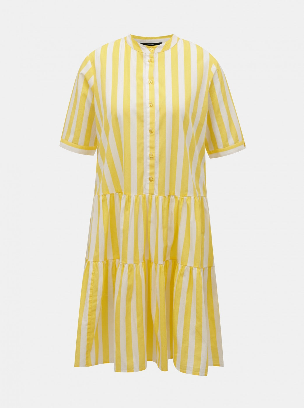White-yellow striped dress VERO MODA Delta