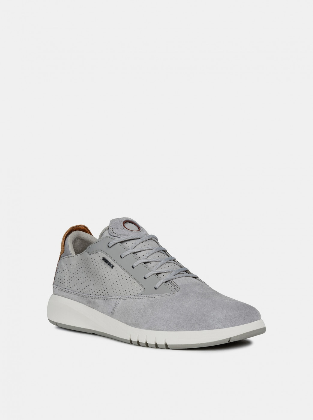 Geox Aerantis Men's Grey Suede Sneakers