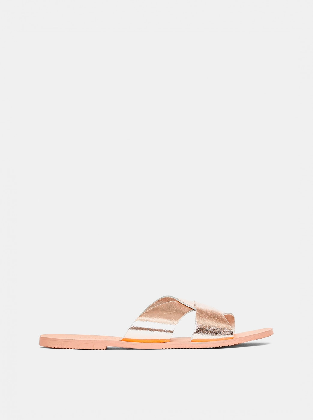 Dorothy Perkins Gold Leather Slippers