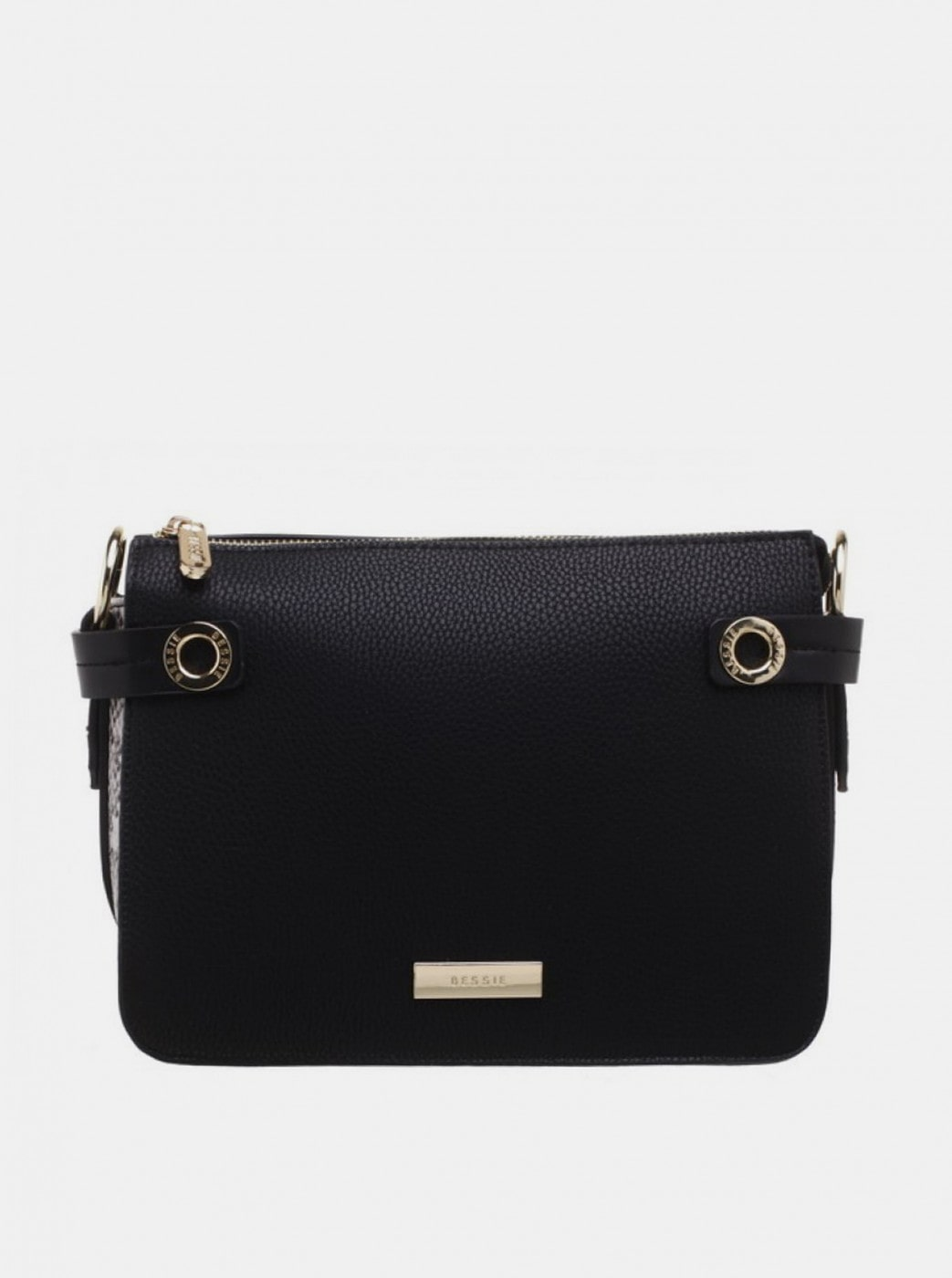 Bessie London Black Crossbody Handbag