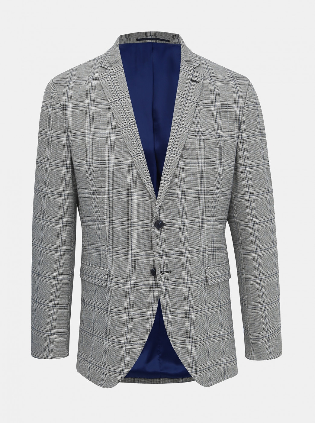 Grey Checked Jacket Selected By Homme Emil