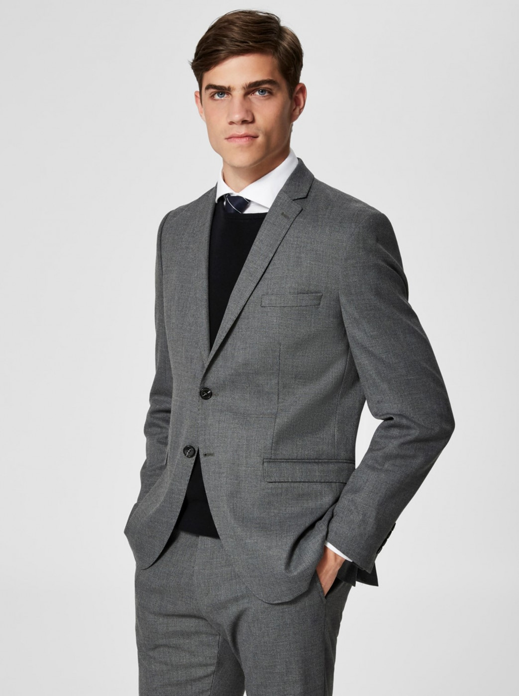 Selected Homme Grey Suit Jacket