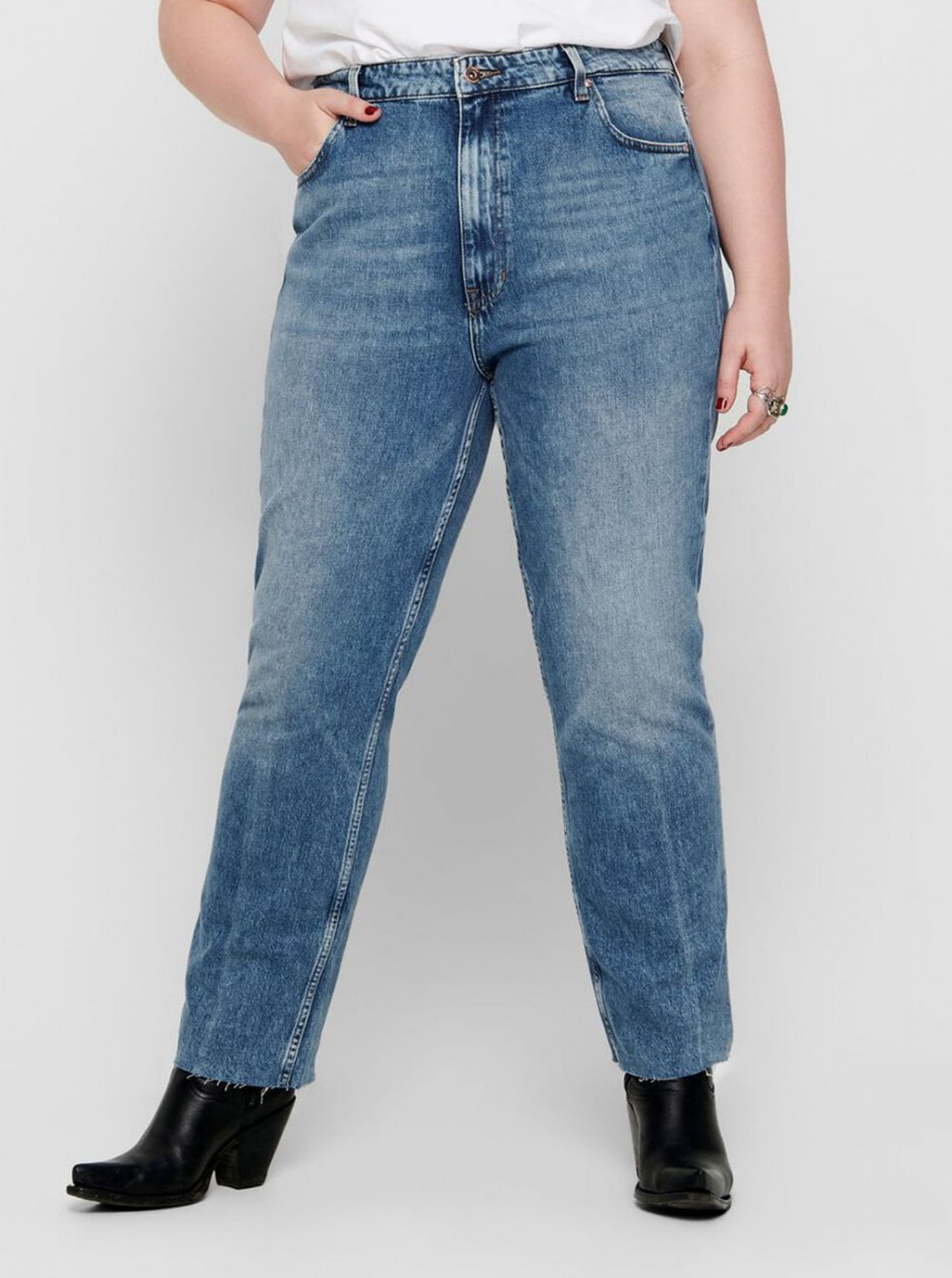 Blue Straight Fit Jeans ONLY CARMAKOMA Oxy