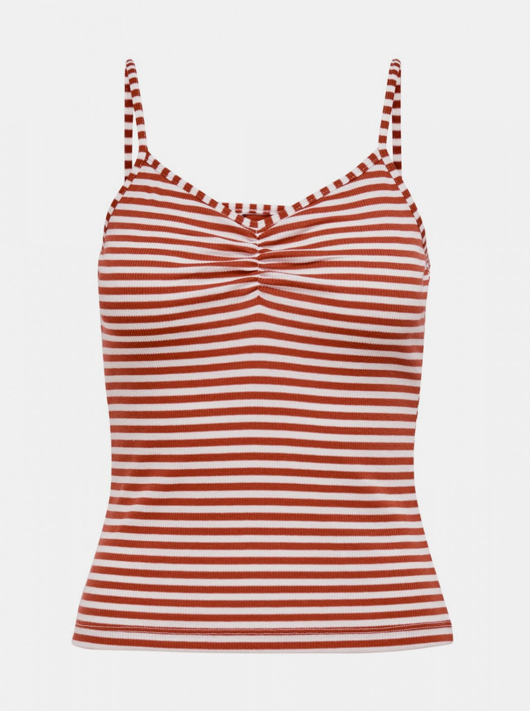 White-red striped tank top ONLY Tinea