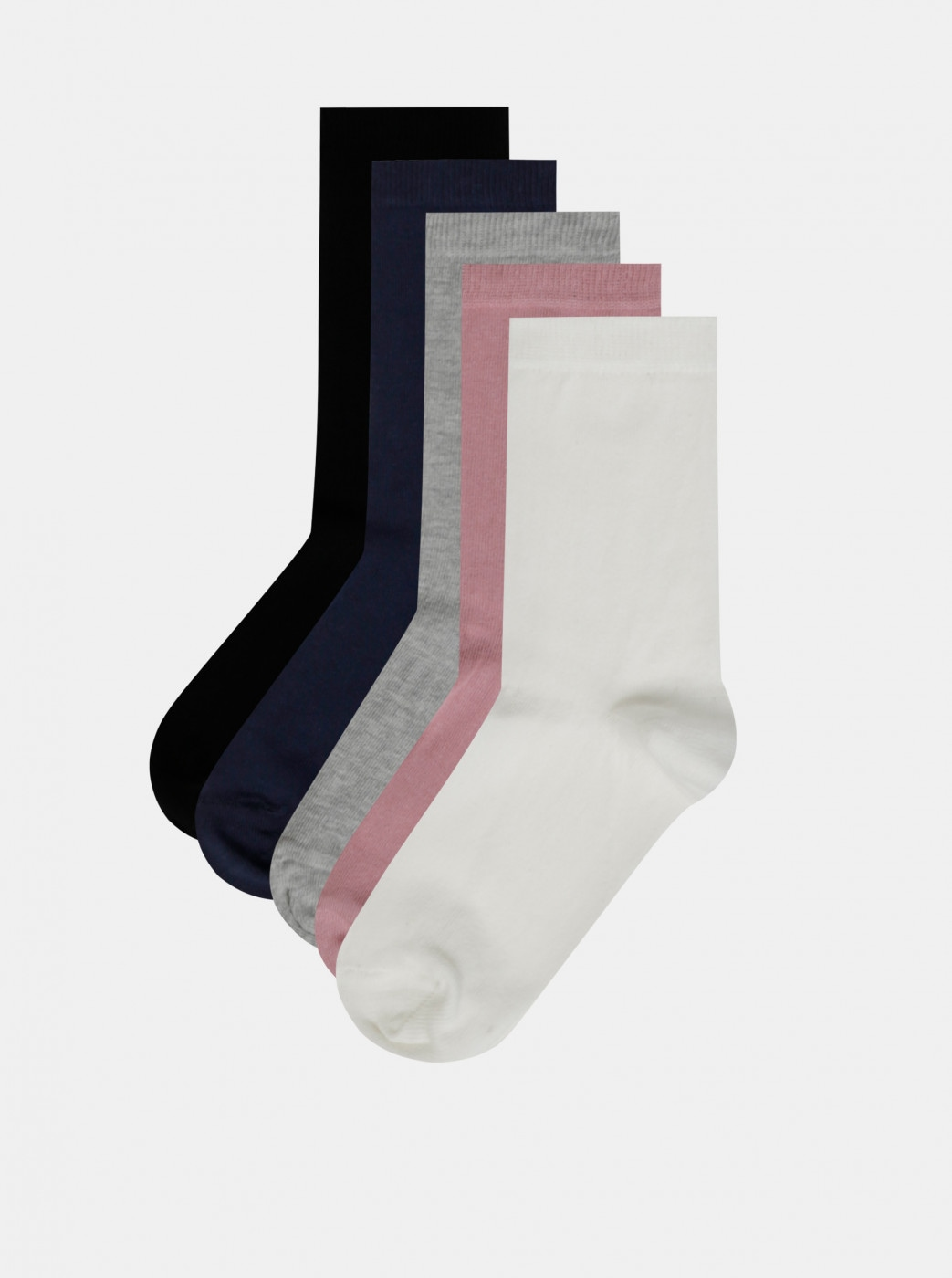 Set of three pairs of socks in white, grey and black M&Co