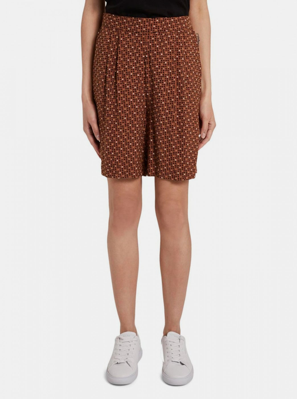Tom Tailor Brown Women's Patterned Shorts