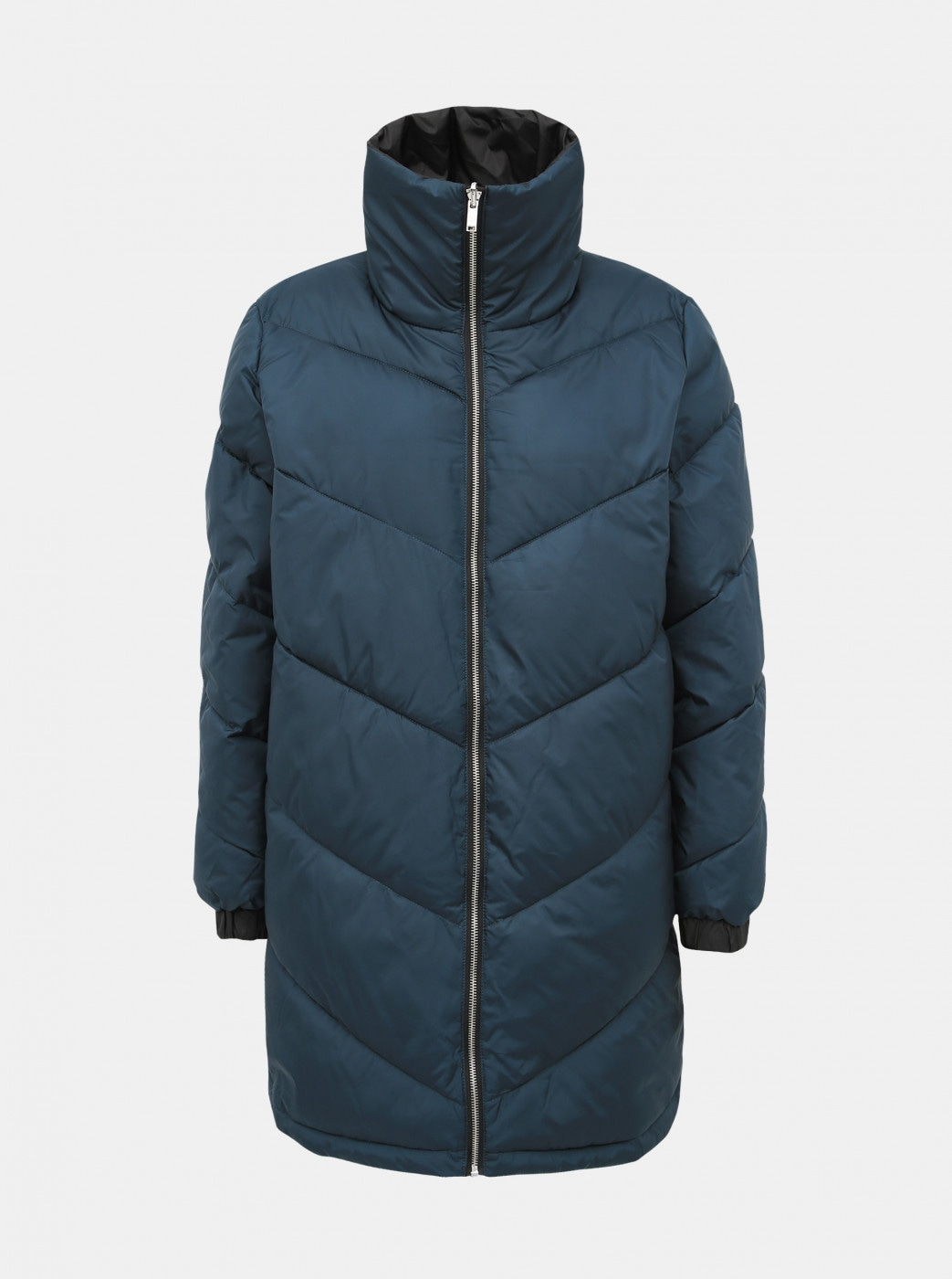 Black-kerosene double-sided quilted winter coat ONLY Seanne