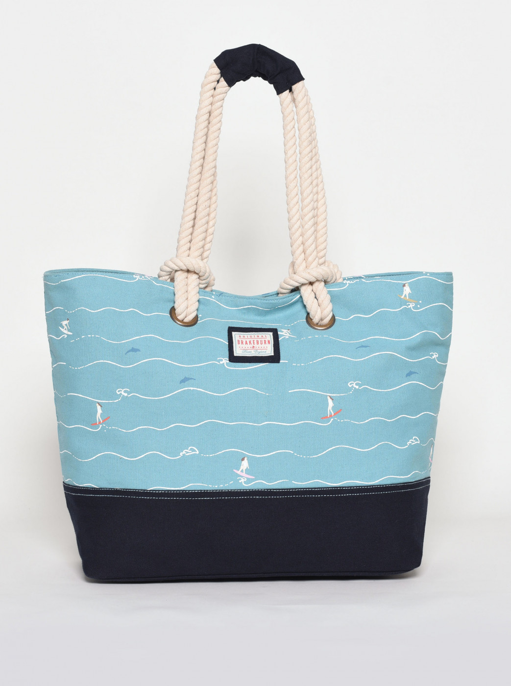 Brakeburn Blue Patterned Beach Bag