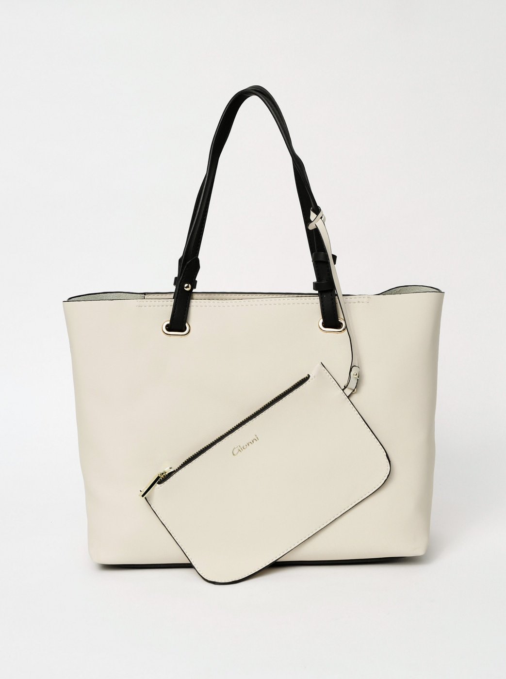 Creamy shopper with 2-in-1 Gionni Bella case