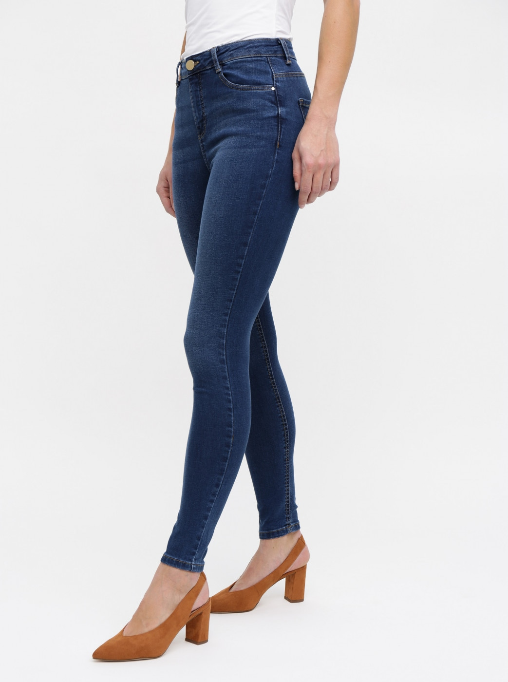 Blue skinny jeans with high waist Dorothy Perkins