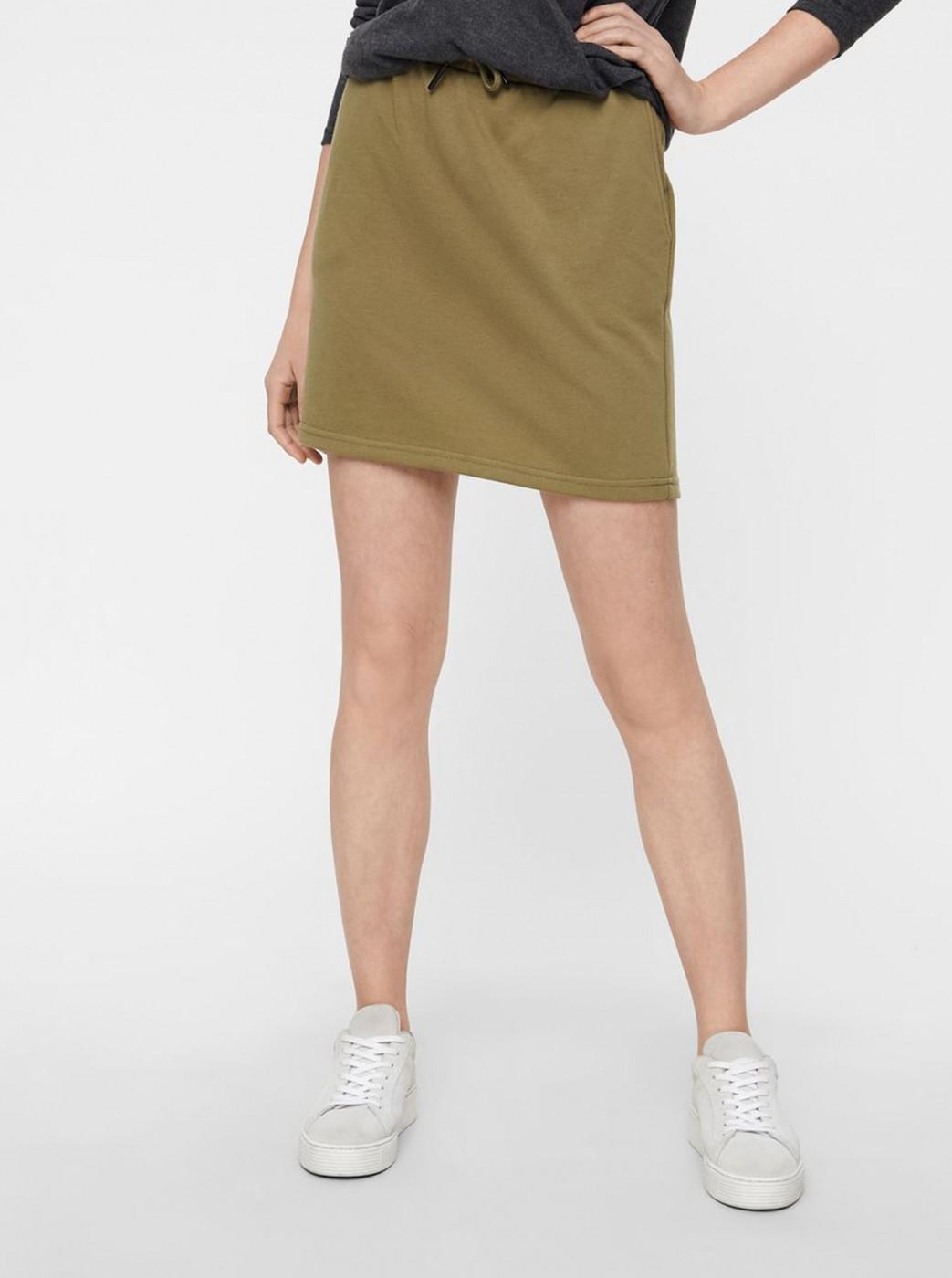 Khaki basic miniskirt Noisy May Silla