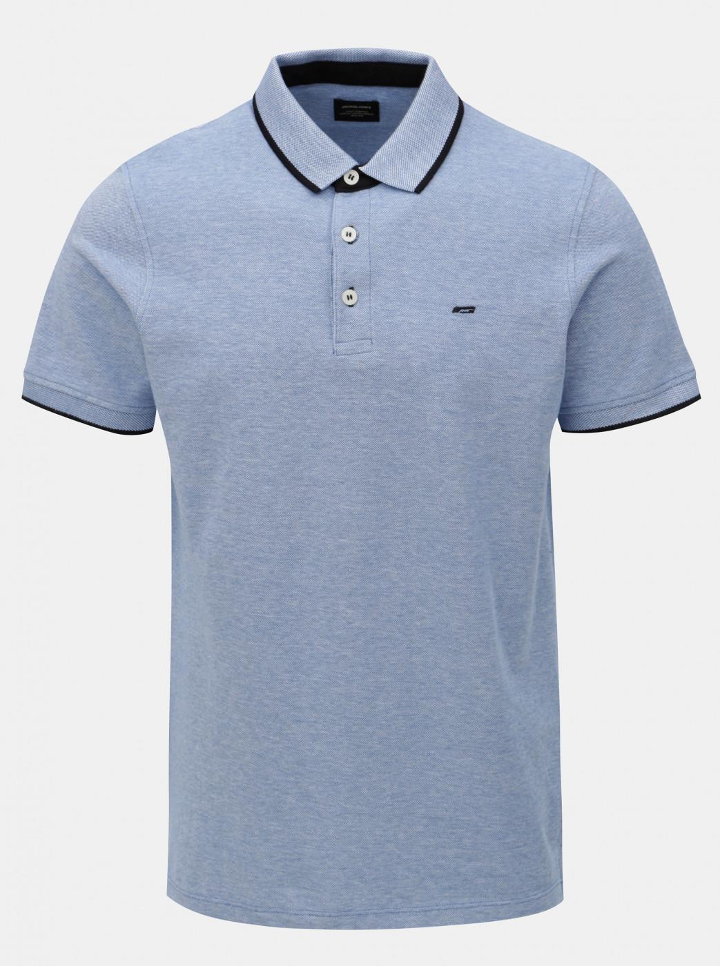 Light blue Polo Jack & Jones Paulos T-shirt