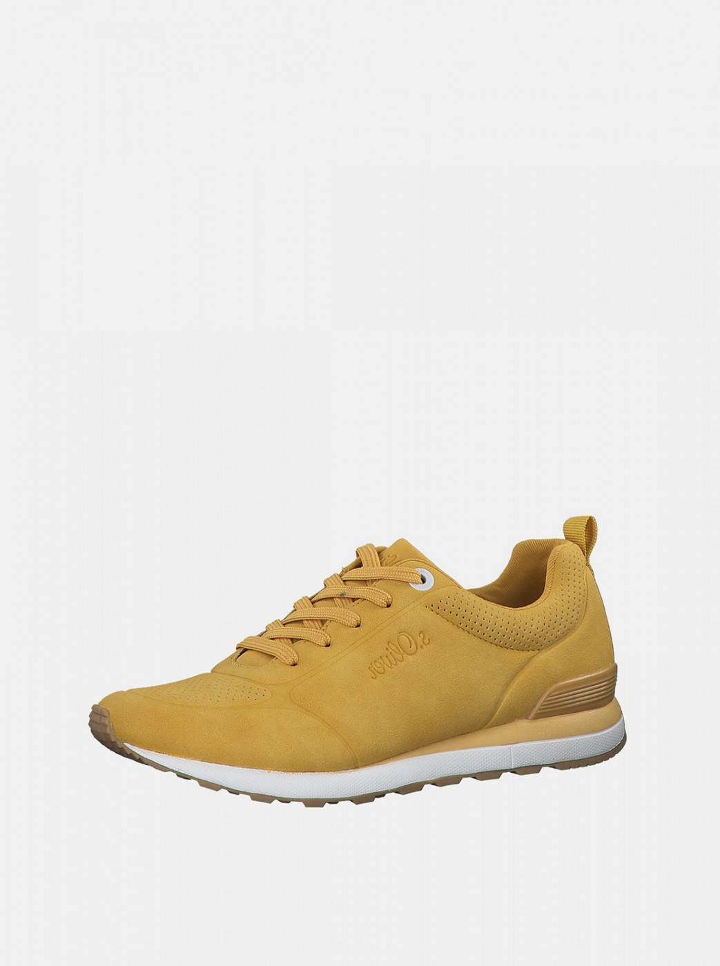 Yellow women's sneakers in suede style s.Oliver