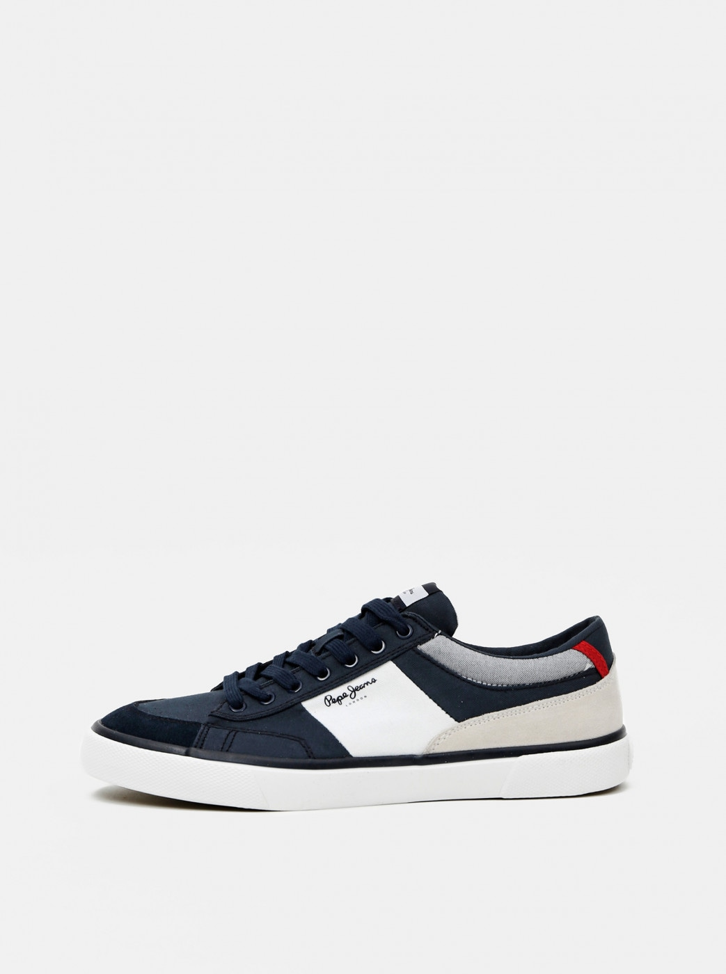 Dark Blue Men's Sneakers with Suede Details Pepe Jeans