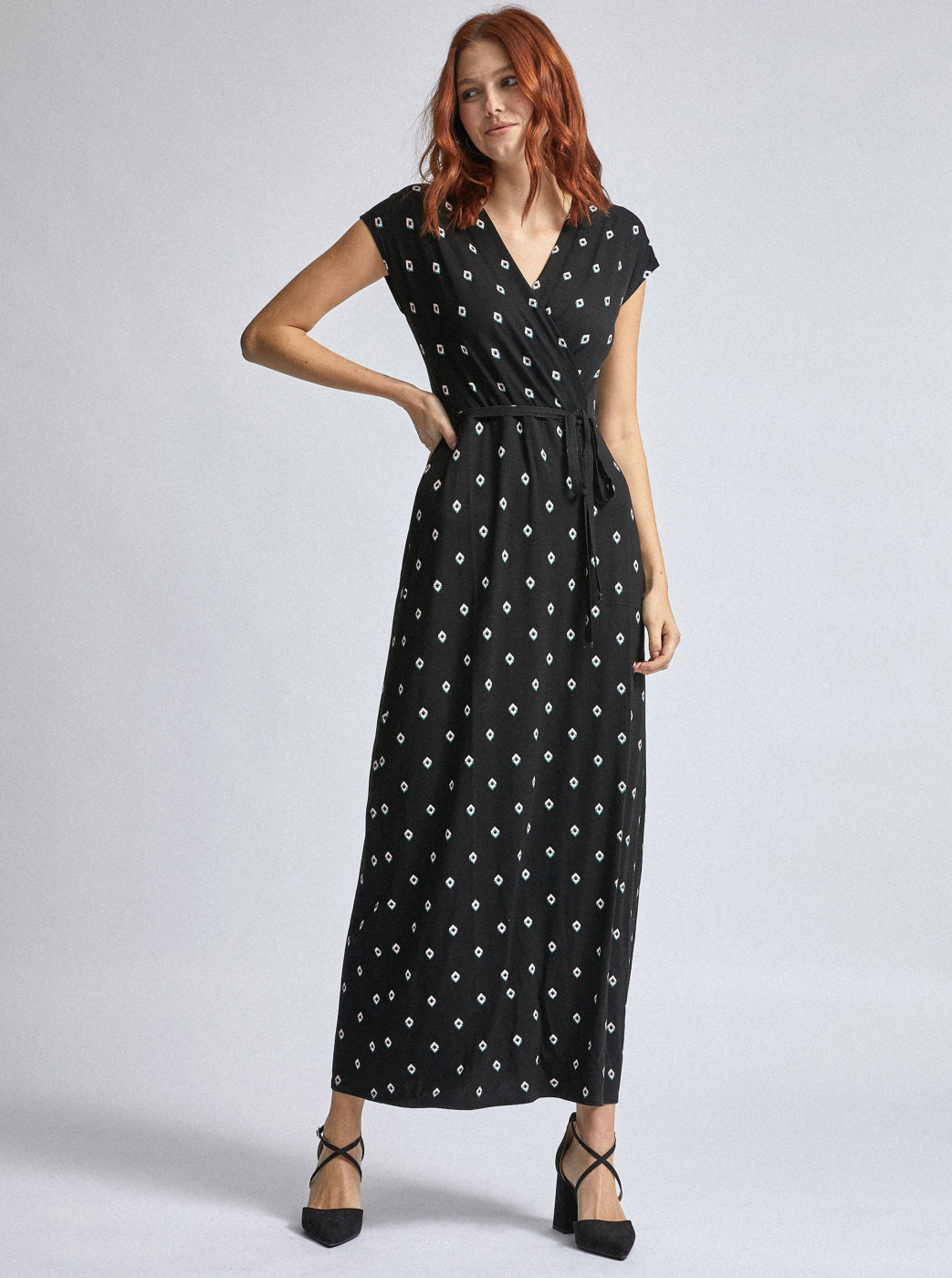 Black patterned maxi dress by Dorothy Perkins