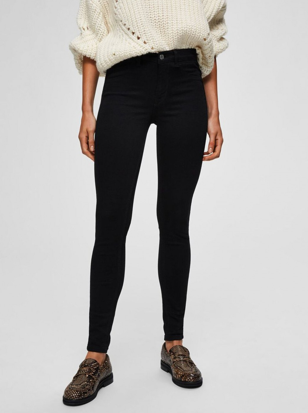 Black Skinny Fit Jeans Selected Femme Gaia