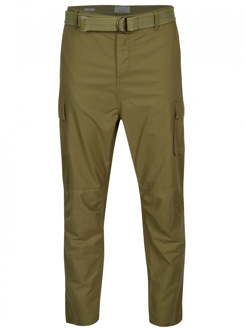 Khaki regular pants with pockets and belt ONLY & SONS Nadir