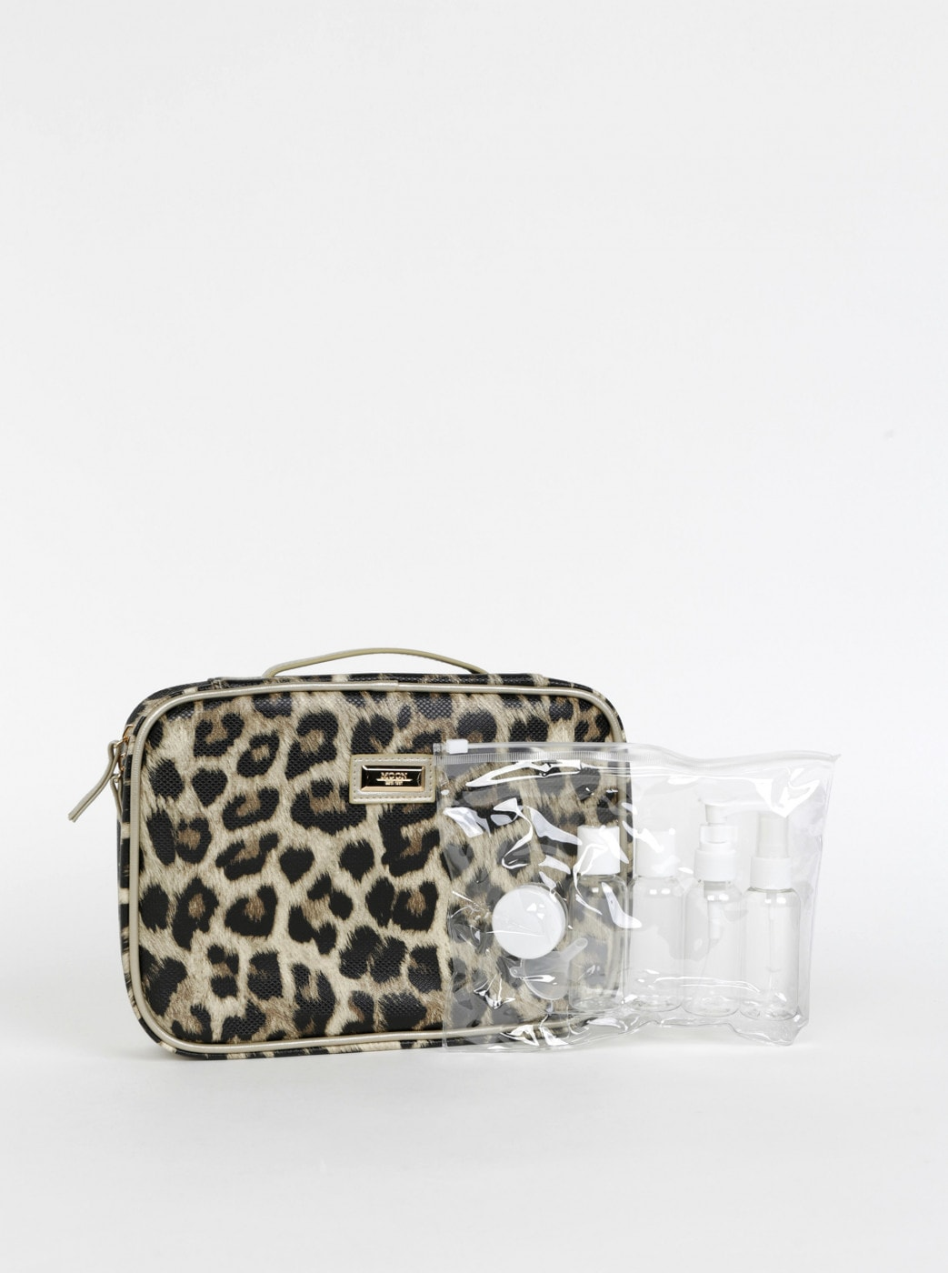 Something Special Light Brown Travel Cosmetic Bag
