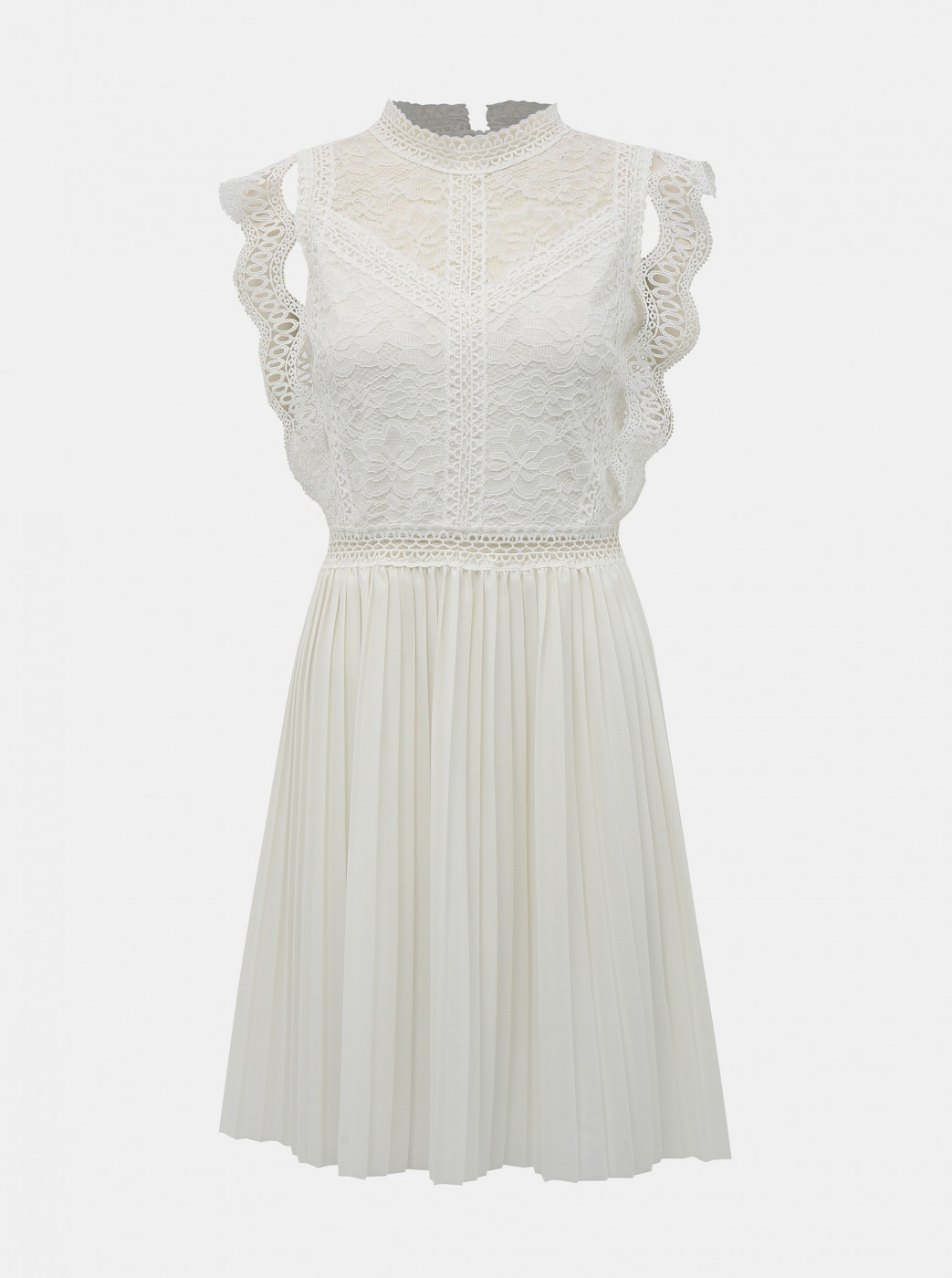 White dress with lace Haily ́s Letzia