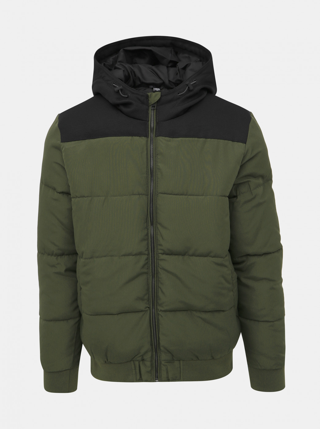 Khaki quilted winter jacket ONLY & SONS Boston
