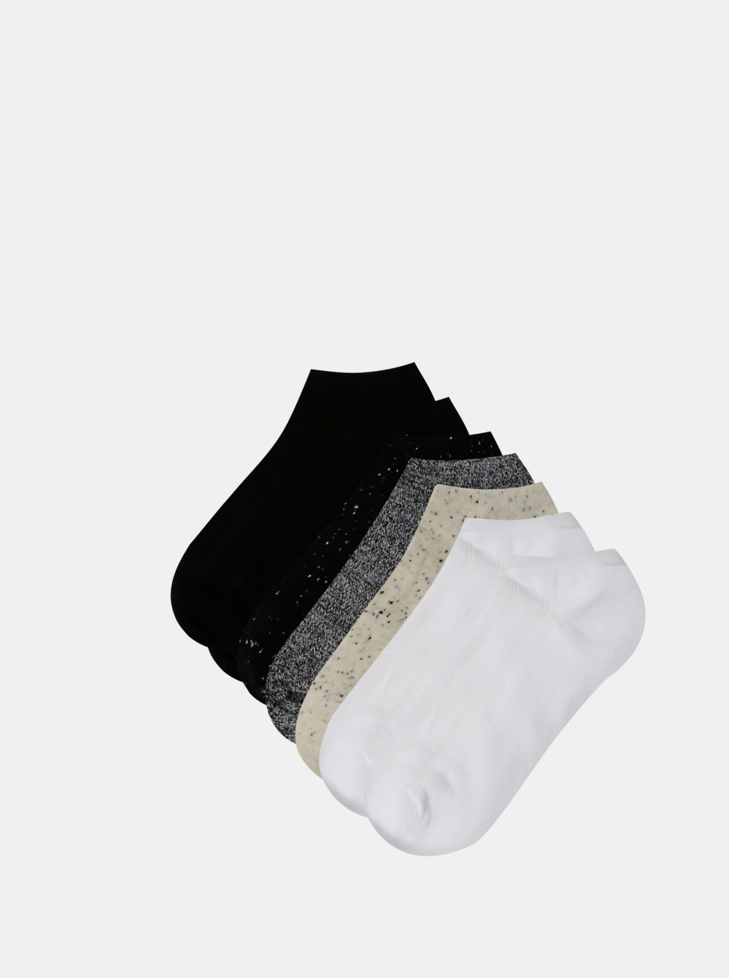 Set of seven pairs of low socks in black and grey TALLY WEiJL