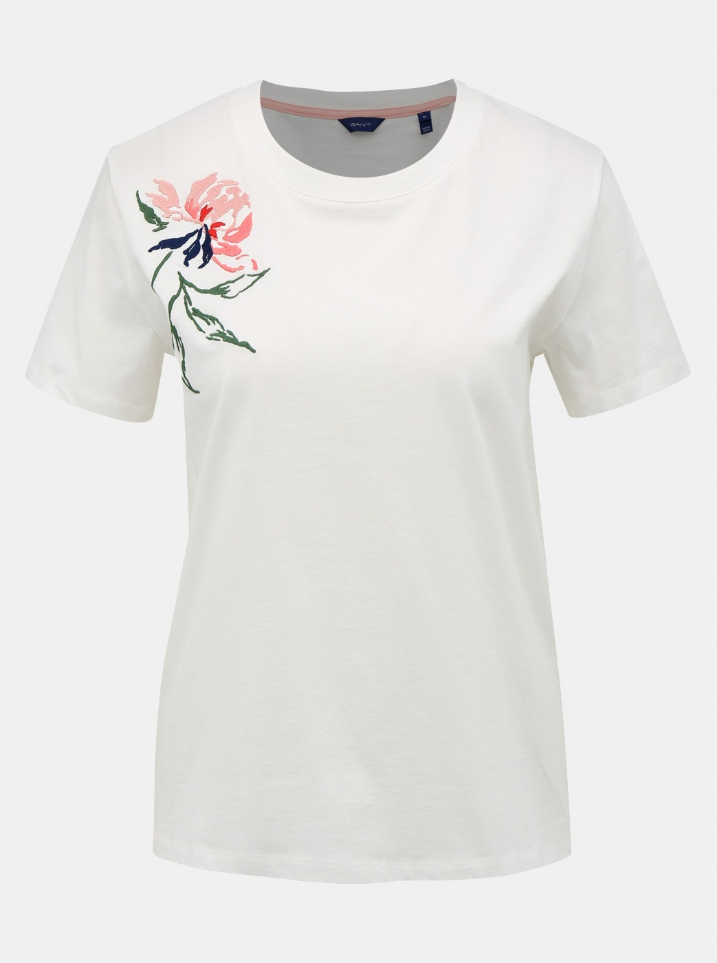 White Women's T-Shirt with GANT Embroidery