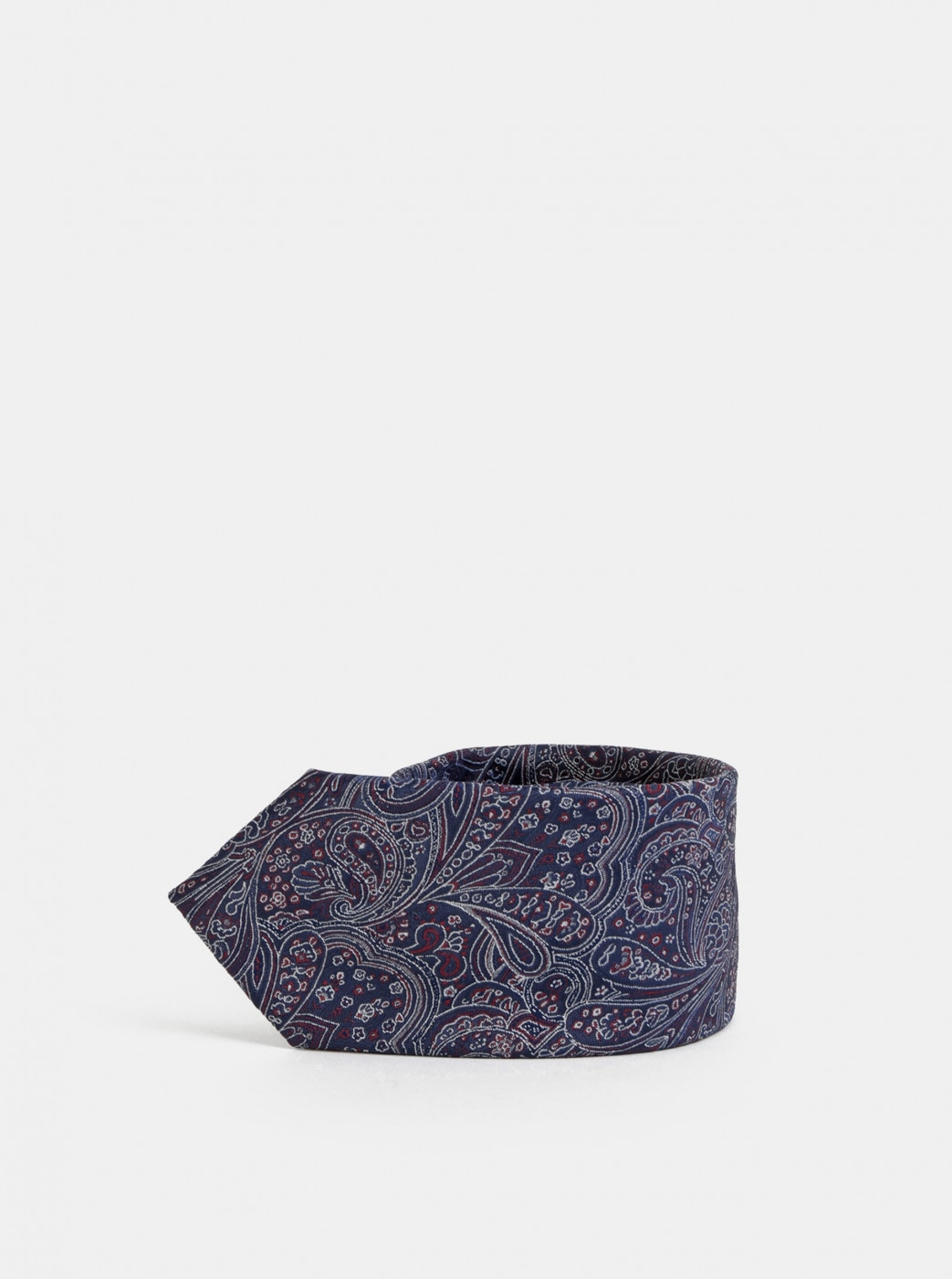 Dark Blue Patterned Tie Selected By Homme Martin