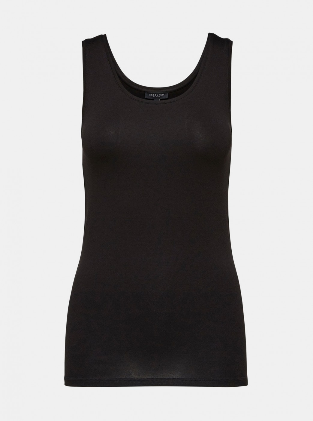 Black Basic Tank Top Selected Femme Mio