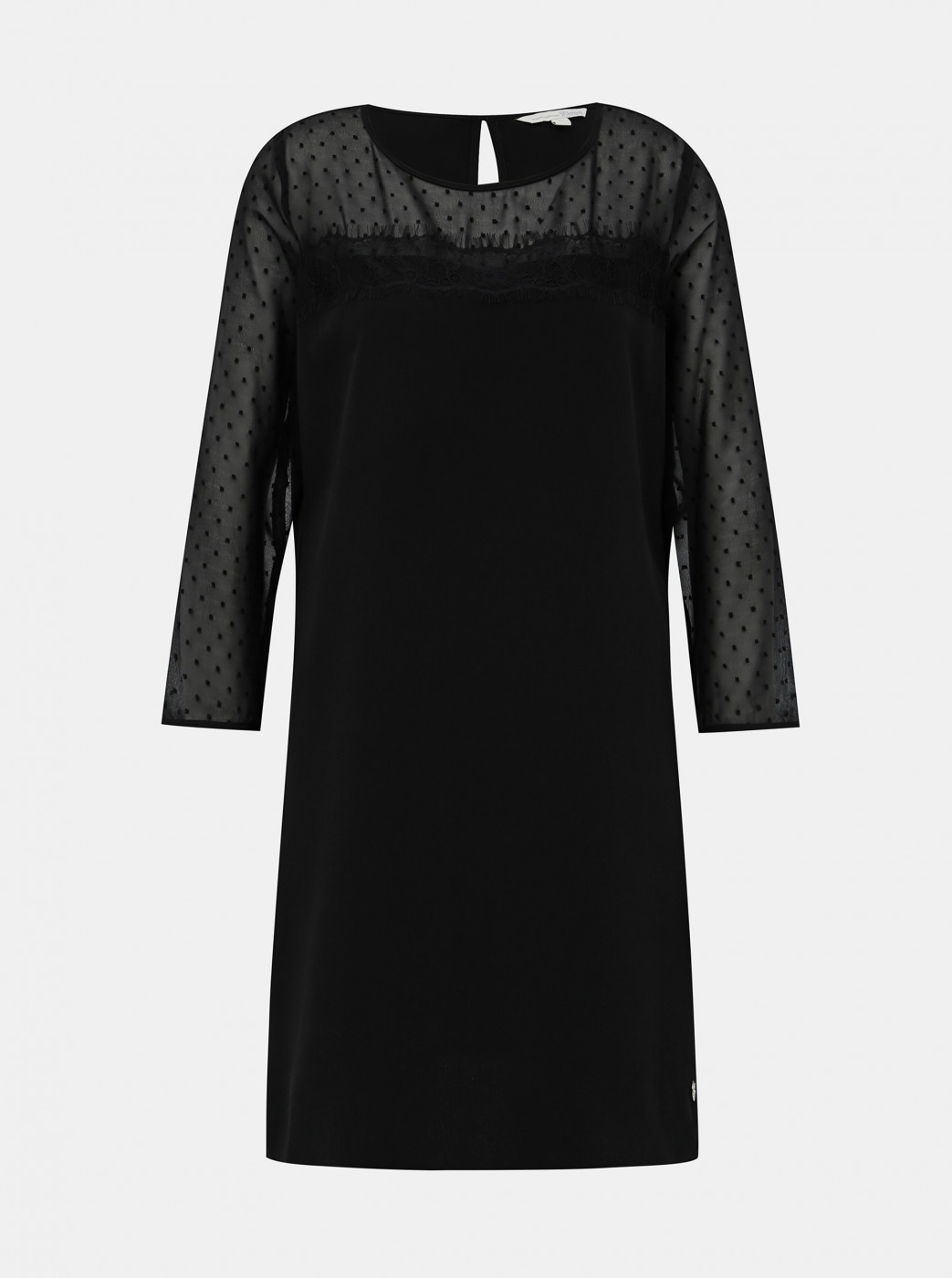 Black Dress with Lace Tom Tailor